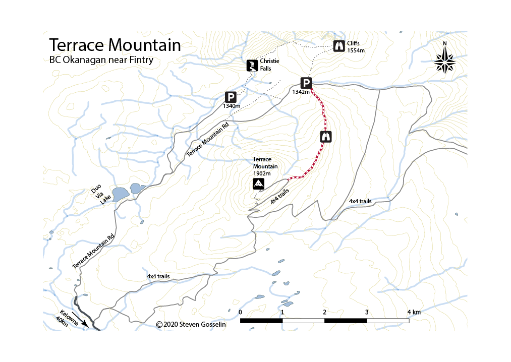 Terrace Mountain Map